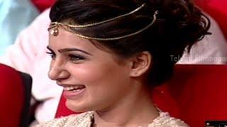 Brahmanandam funny speech about Samantha @ Alludu Seenu Audio Launch - DSP, VV Vinayak
