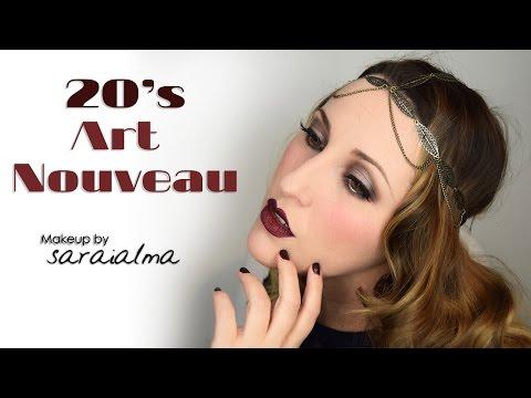 20s Art Nouveau Makeup Tutorial - Carnaval