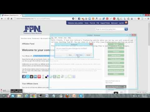 How to get your affiliate link at Freelance Press Network