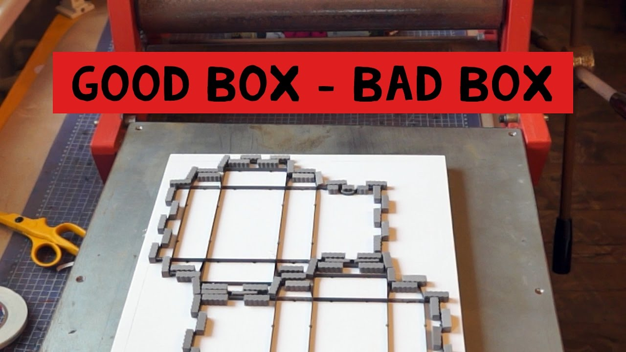 Good box - Bad box  Die cutting a box!