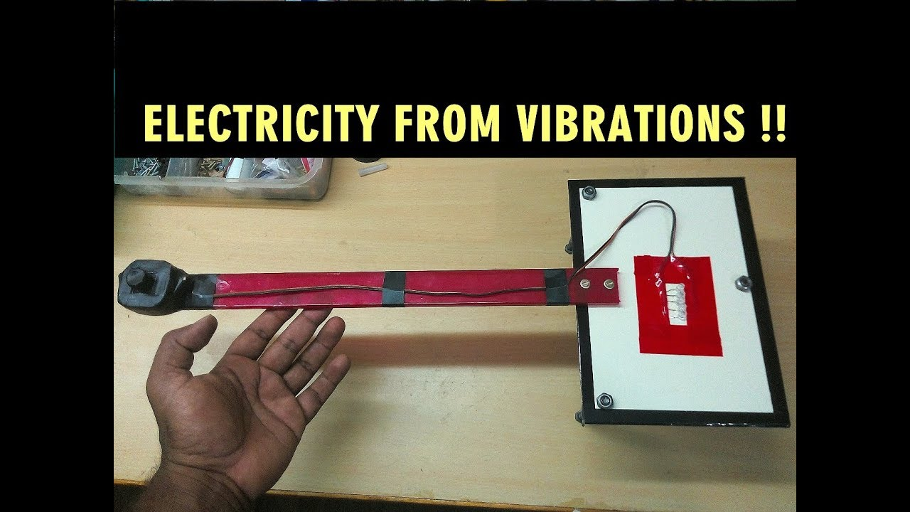 How To Generate Electricity From Vibration Eee Mini Project Power Generator A Device That Changes Or Converts Mechanical Energy Science Working Model