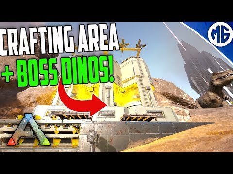 CRAFTING AREA AND BOSS DINOS! 3 Man PvP Servers - Ark: Survival Evolved