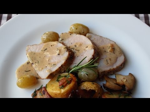 Pork Recipe Fail – How Not to Make Roast Pork Loin with Rosemary & Grapes