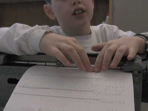 Learning Braille at Jenkins Elementary
