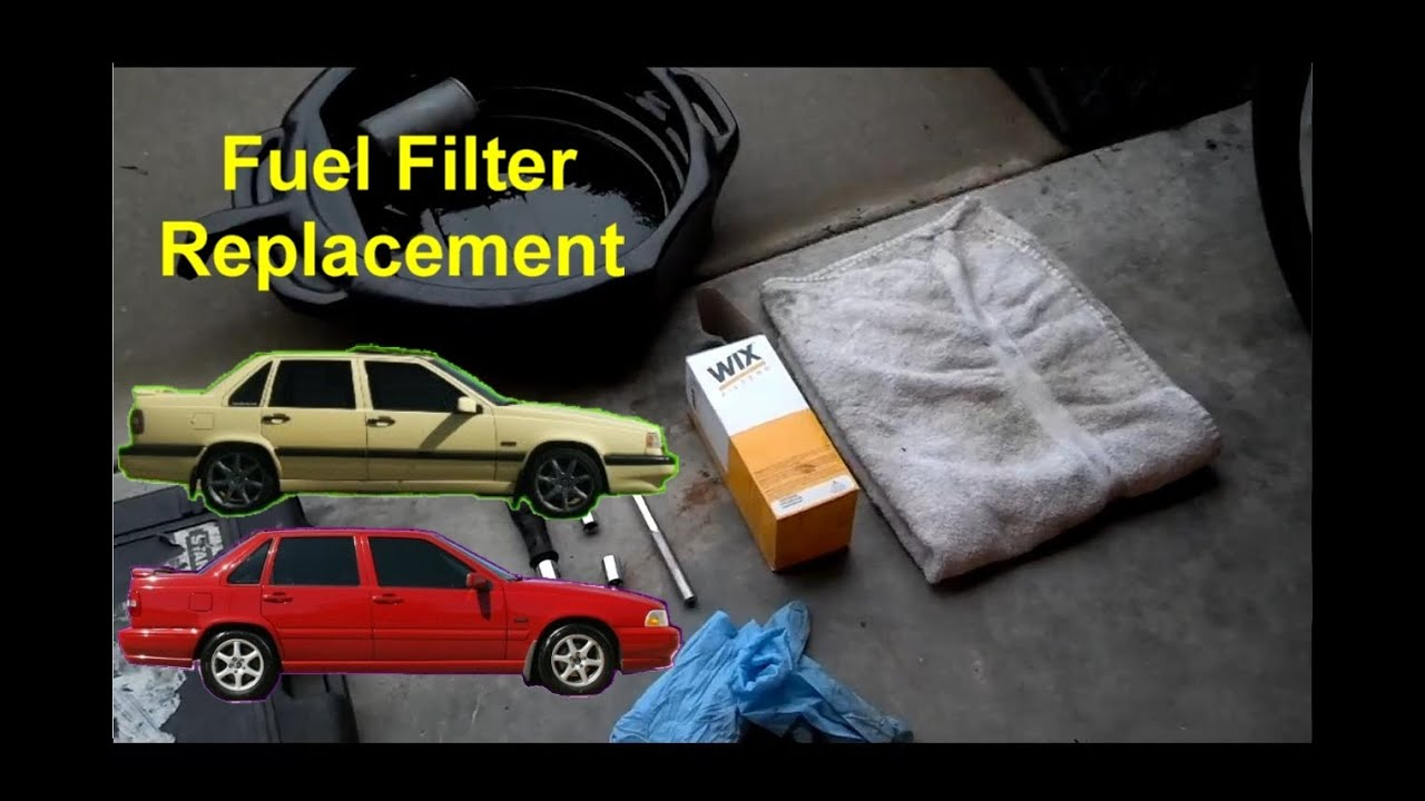 how to replace the fuel filter volvo 850 s70 v70 auto repair series [ 1280 x 720 Pixel ]