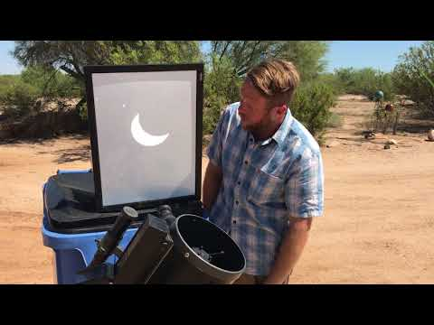 The 8/21/17 solar eclipse brought to you from SE Arizona.