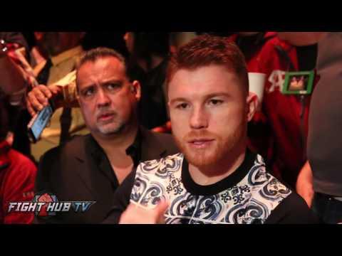 Canelo Alvarez reacts to Anthony Joshua vs Wladimir Klitschko