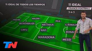 Maradona y Messi elegidos en el 11 ideal de France Football para el mejor equipo de la historia