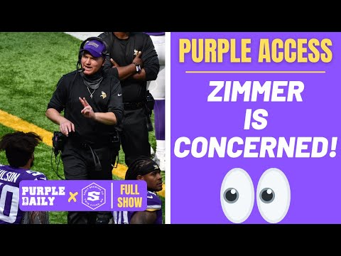Mike Zimmer is CONCERNED with Minnesota Vikings depth