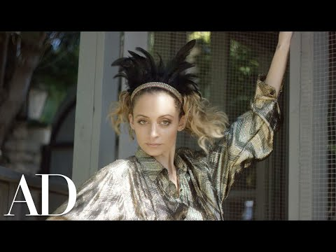 Nicole Richie Motivates Her Chickens for a Photoshoot | Architectural Digest