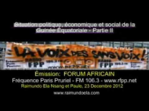 Forum Africain-Guinée Équatoriale Partie 2, Radio Fréquence Paris Pluriel FM106.3