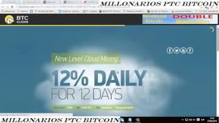 Tutorial BTC Clicks en español gana Bitcoins fácilmente 2016 Millonarios Ptc Bitcoin