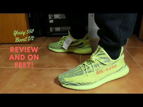 79246eeb3ca Yeezy 350 Boost V2 Frozen Yellow Review and On Feet! - YouTube