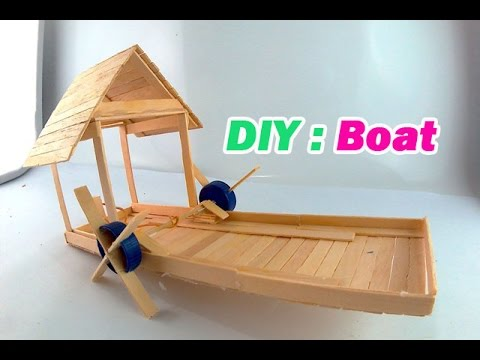 full download how to make a boat ice cream sticks