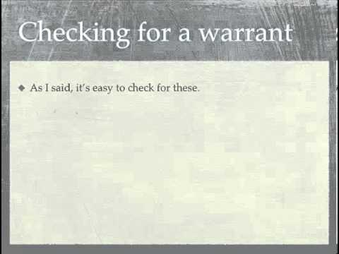 Different Methods To Perform Outstanding Warrant Search
