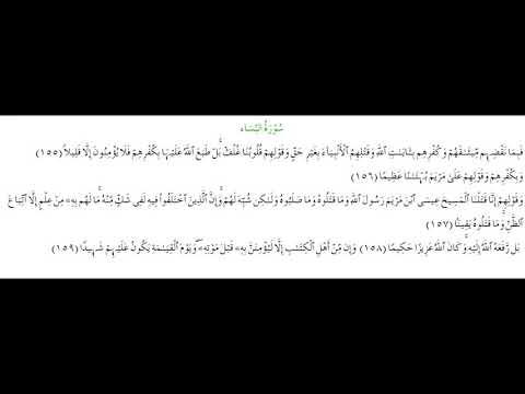 SURAH AN-NISA #AYAT 155-159: 26th August 2020