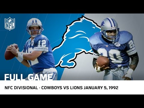 Lions Capture First Postseason Win Since 1957 | 1991 Divisional Playoffs | NFL Full Game
