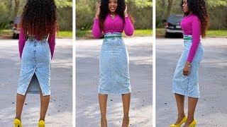 DIY how to turn jean pants into a pencil skirt