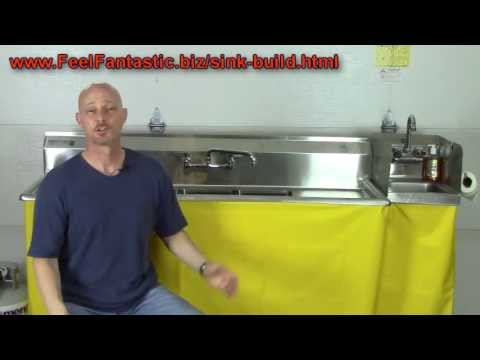 how to build a 3 compartment sink 5