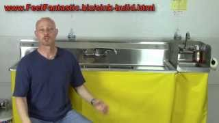 How To Build A Portable 3 Compartment Concession Sink