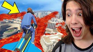 DESAFlO O CHÃO É LAVA NO GTA 5!! (Incrível)