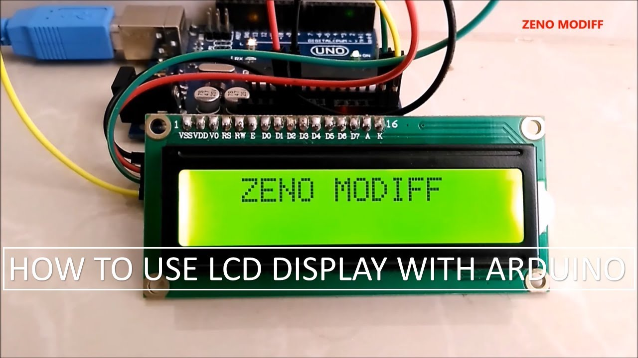 Arduino I2C 16*2 Lcd Display Connection : 10 Steps