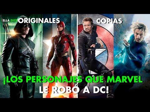 10 PERSONAJES De DC Cómics Que MARVEL Copió DESCARADAMENTE!