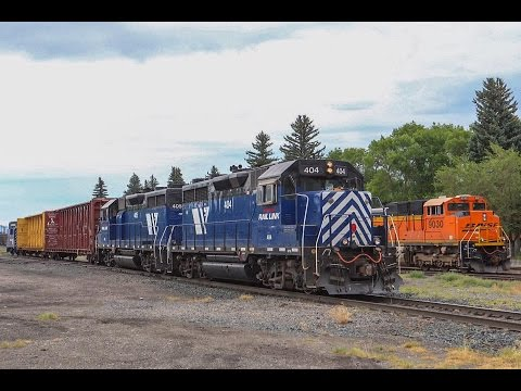 BNSF and MRL Trains in the Big Sky Country: Part One (Billings, Livingston, Bozeman)