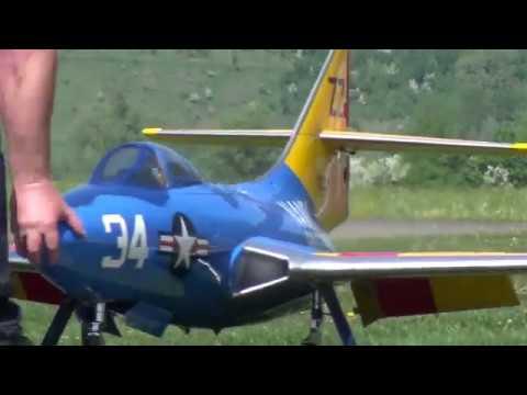Grumman F9F Panther U.S NAVY RC Turbine Model Jet flight demonstration 2018