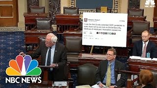 Senator Bernie Sanders Takes Donald Trump Tweet To Senate Floor | NBC News