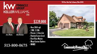 Home for Sale w/First Floor Master Suite  790 Deer Run Trail, Lebanon OH 45036
