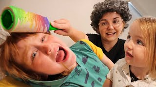 Granny Neighbor  -vs-  Adley & Niko!!  Train Rides and Doctor Visits just another neighborhood day