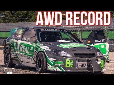 1400HP AWD Civic Breaks AWD Honda Record - 58PSI of BOOST!