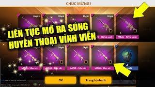 Free Fire | Xài 50K Trúng 18000 Kim Cương Hóa Thánh Liên Tiếp Mở Ra Súng Xịn | Rikaki Gaming