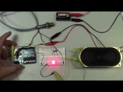 Proximity Sensor Interfacing to an Arduino (sinking sensor)