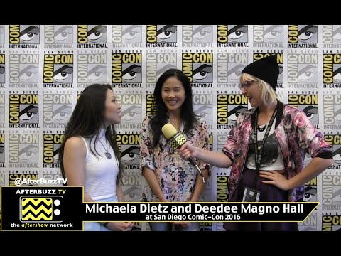 Michaela Dietz and Deedee Magno Hall (Steven Universe) at San Diego Comic-Con 2016