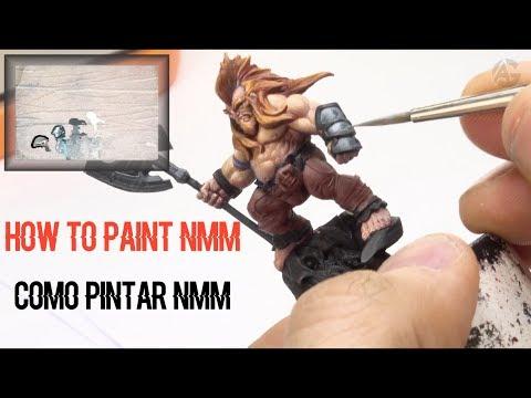 How To Paint A Dwarf (NMM) / Como Pintar Un Enano (NMM) - Angel GiraldeZ