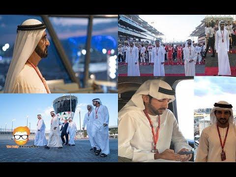 HH Sheikh Mohammed HH Sheikh Hamdan attends the opening  Formula1 Grand Prix in Abu Dhabi