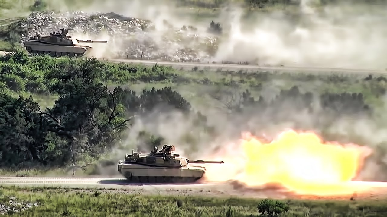 Armored Vehicles Show Of Force • 1st Cav Div - Fort Hood