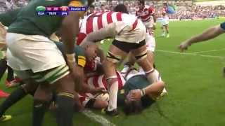 Japan vs South Africa. Last minutes. Rugby World Cup 2015