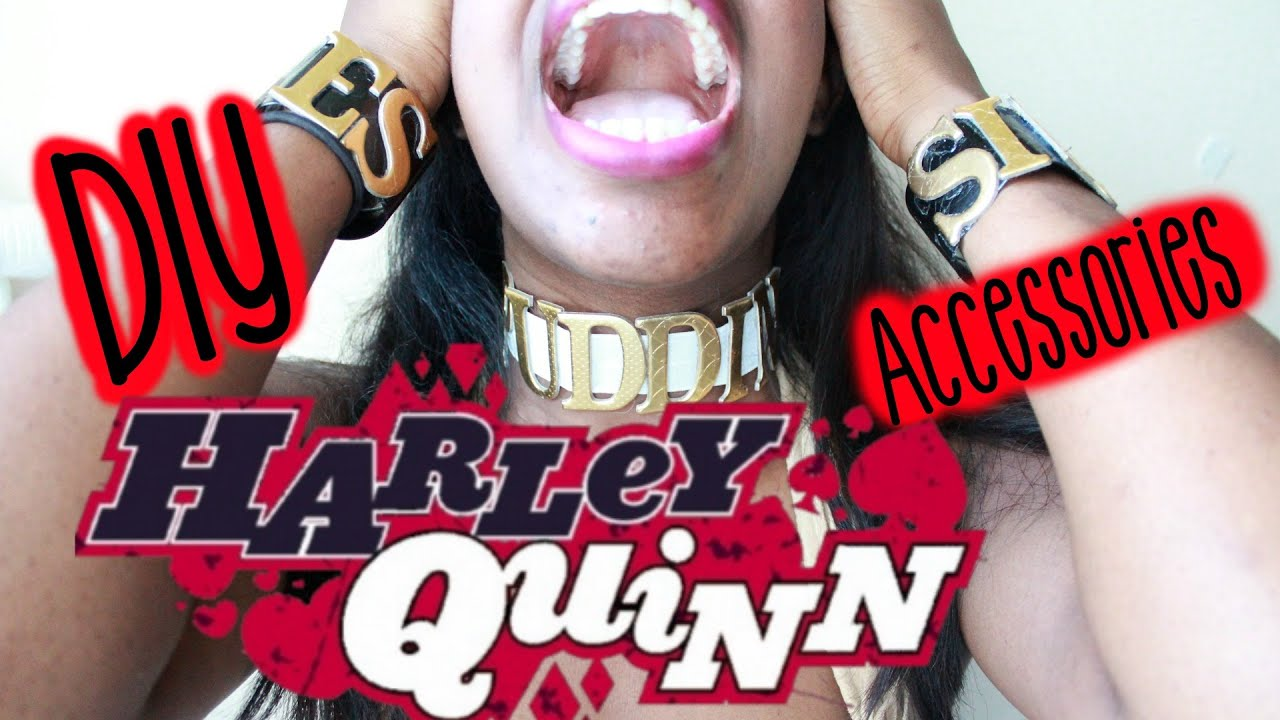 Harley quinn suicide squad choker diy cosplay youtube solutioingenieria Images