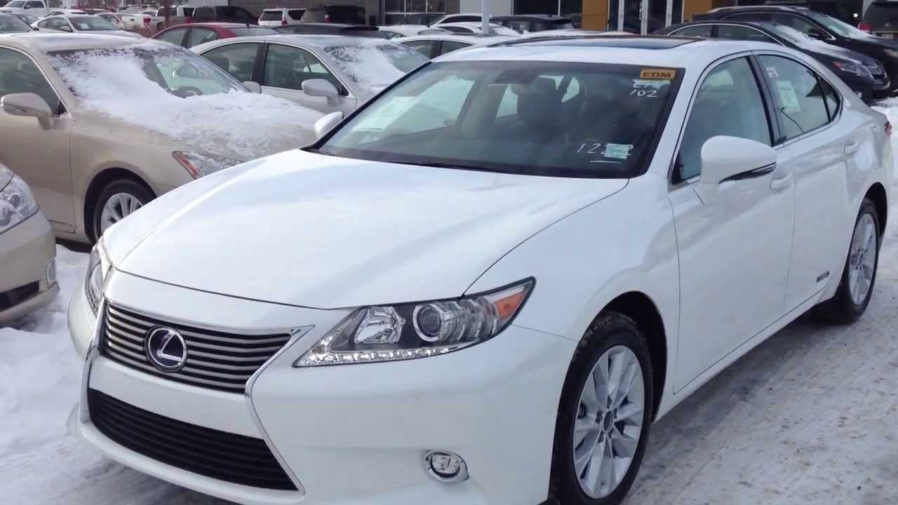 2014 Lexus ES 300h Hybrid   Leather Package Review Alberta