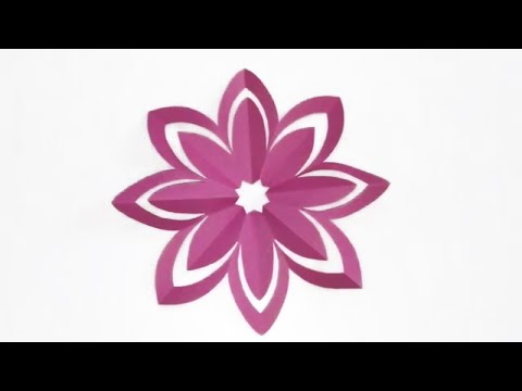 Paper Flower Design || DIY Home Decor || Paper Cutting || Paper Crafts || Paper Cutting Easy