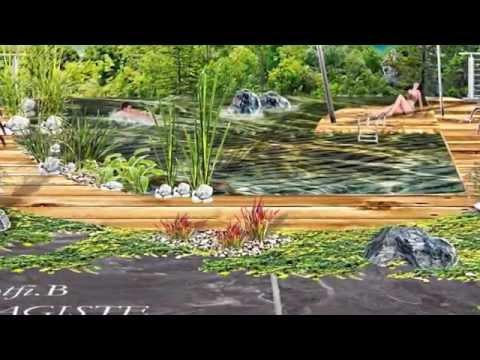 aux abords d'une piscine naturelle