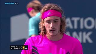 Highlights: Tsitsipas Saves 2 MP; Stuns Zverev In Toronto 2018