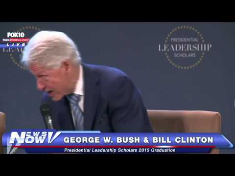 FNN: Interview with George W. Bush & Bill Clinton at the Presidential Leadership Scholars Graduation