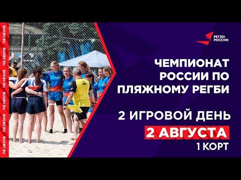Чемпионат России по пляжному регби / 1 корт, 2 день