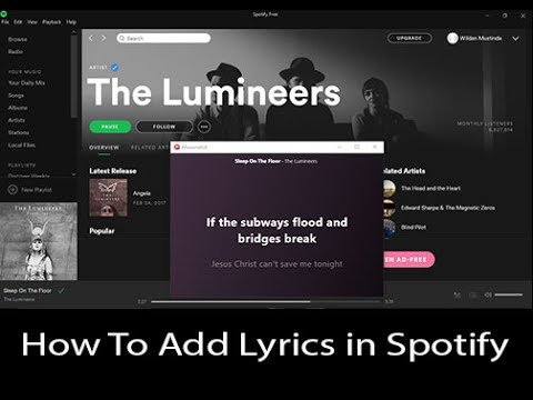 How To Play Your Spotify With Lyrics PC