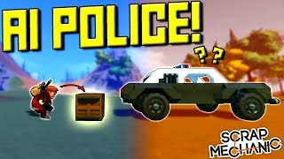 AI COPS vs ROBBERS CHALLENGE! - Scrap Mechanic Multiplayer Monday! Ep 105