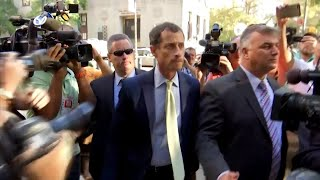 Former Congressman Anthony Weiner Cries as He's Sentenced to Federal Prison